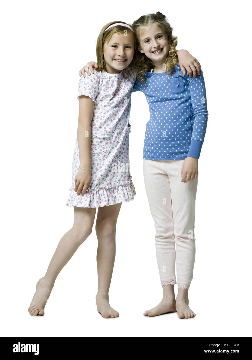 two girls - Stock Image