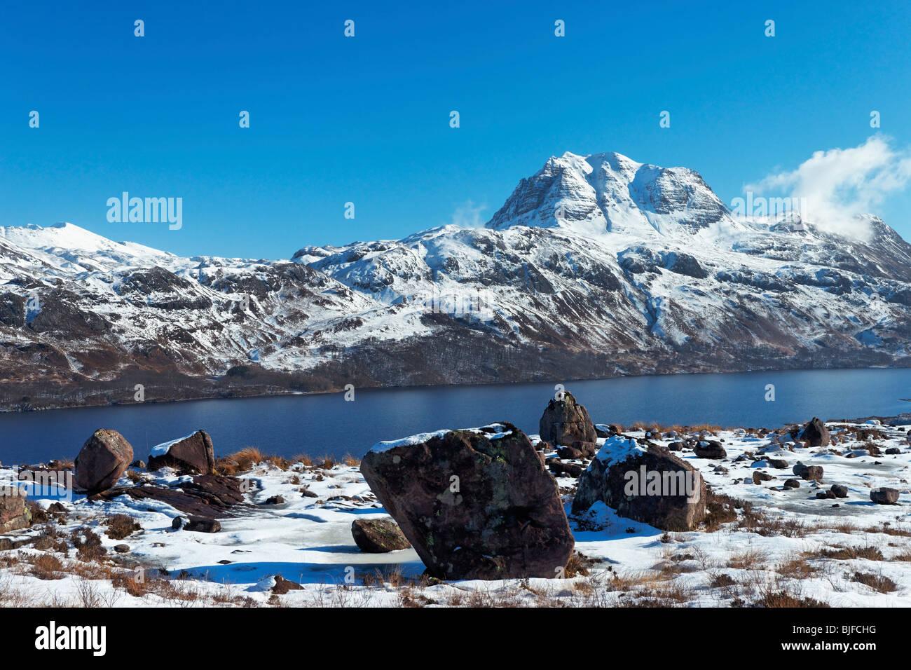 Slioch and Loch Maree, Wester Ross, Highland, Scotland, UK. - Stock Image