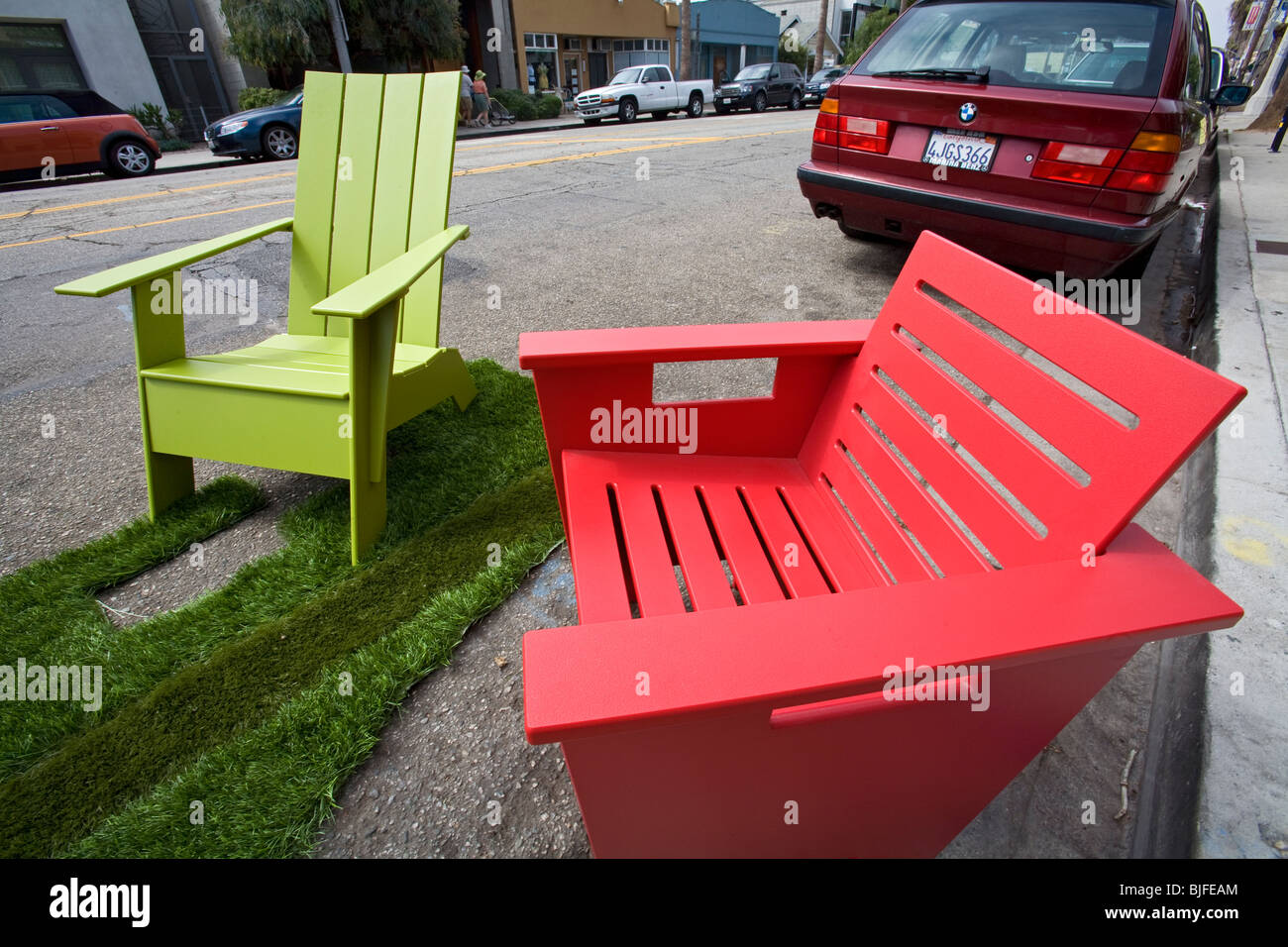 Recycled plastic outdoor furniture by Loll Designs, made from Stock