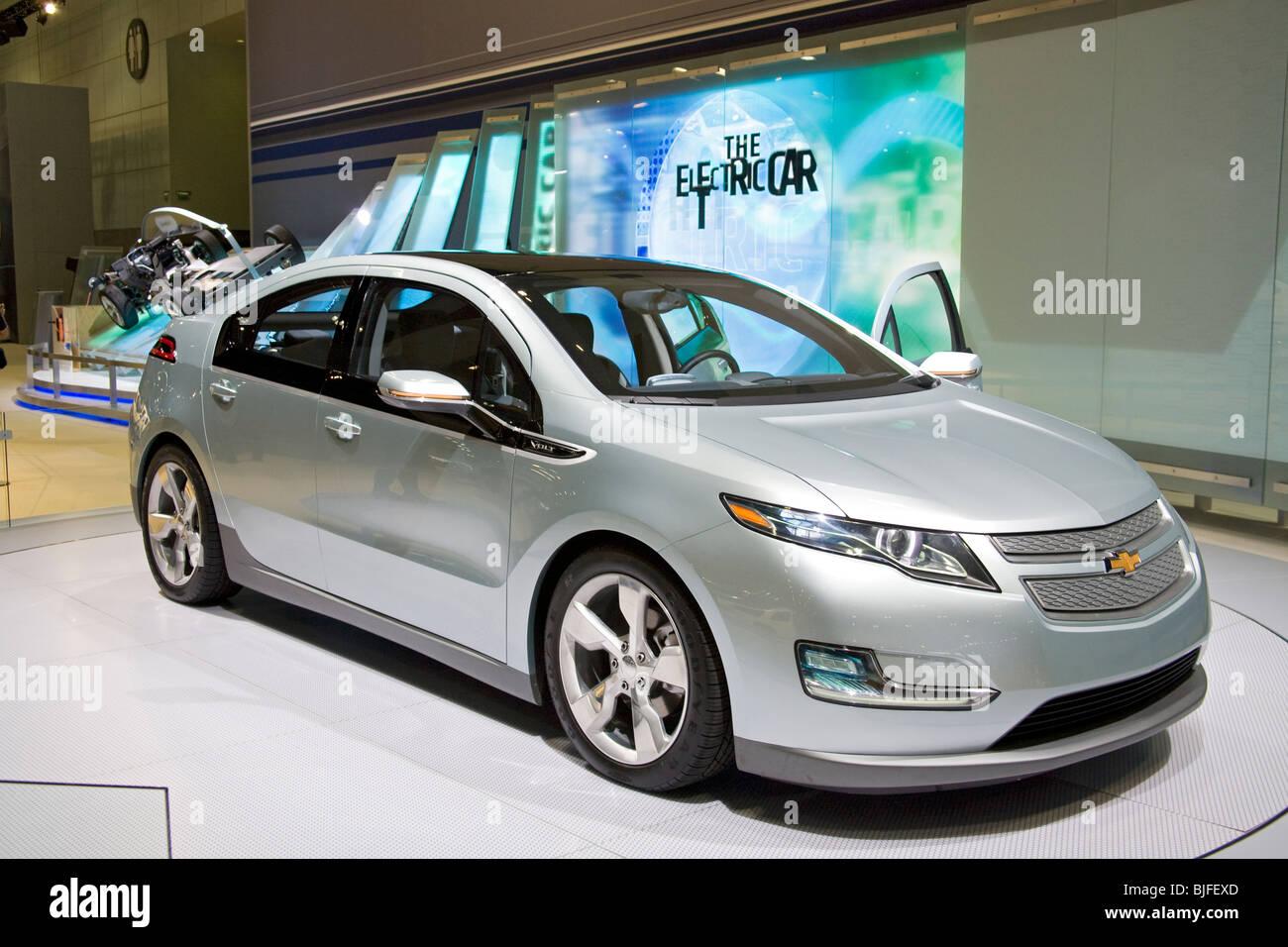 Chevy Volt Stock Photos Images Alamy Car Alternative Fuel Vehicles At 2009 Los Angeles Auto Show La Convention Center