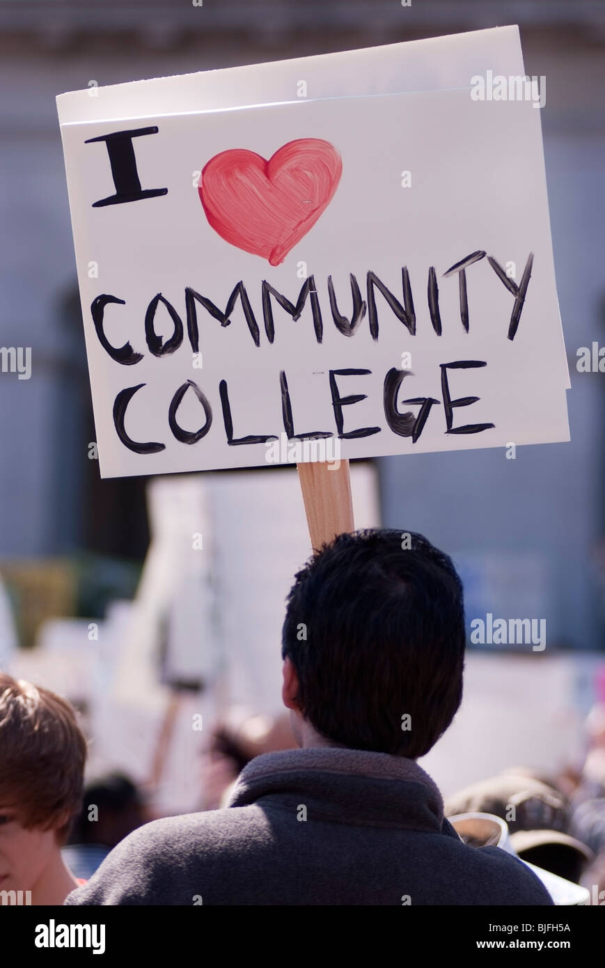 March on March, More than 5,000 college students demonstrate against budget cuts at the state capitol in Sacramento, - Stock Image