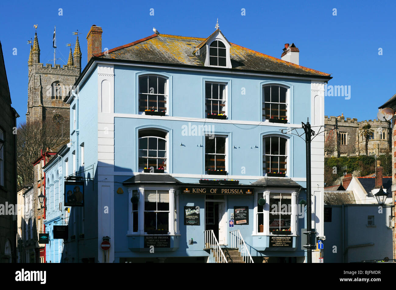 the ' king of prussia ' pub at fowey in cornwall, uk - Stock Image