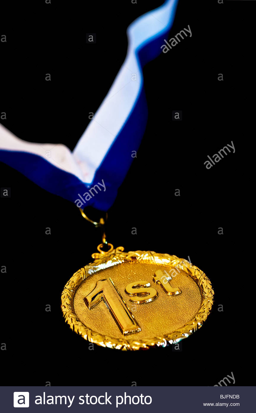 First place medal - Stock Image