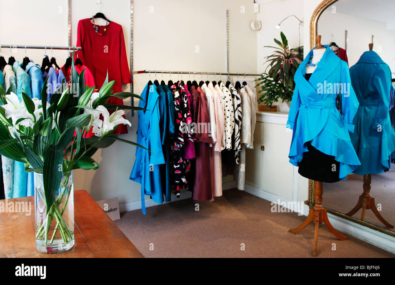 79612cf6213 Interior of a ladies designer fashion store in England