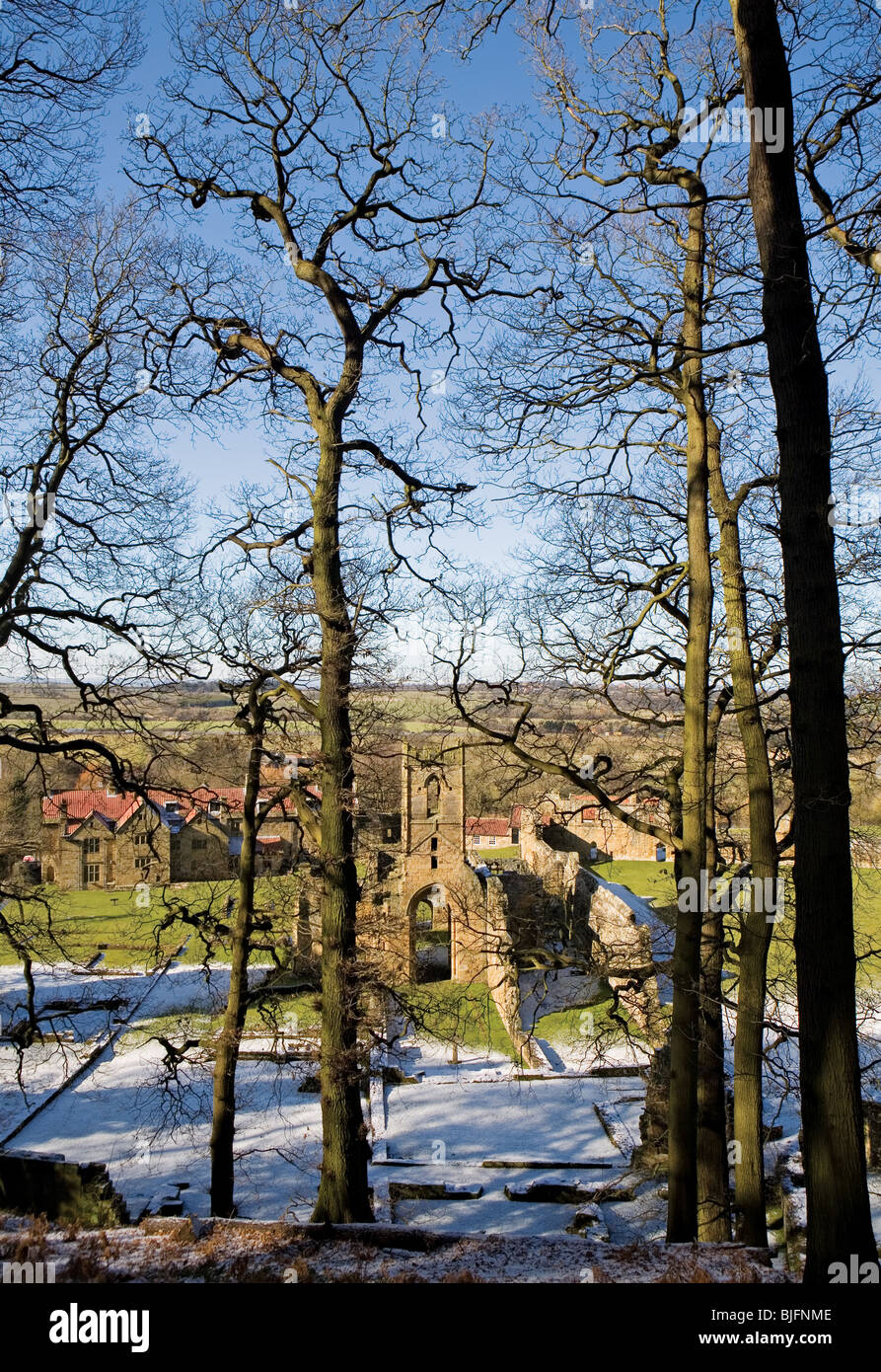 Mount Grace Priory, North Yorkshire, England Stock Photo