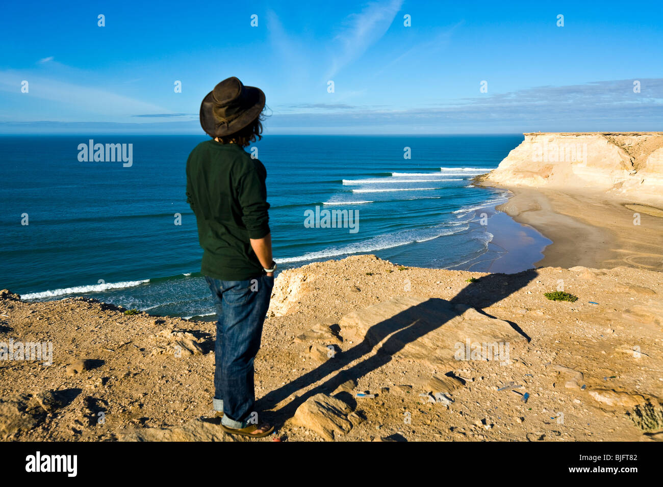Western Sahara, waves, Atlantic Ocean. Erwan Simon (FRA). - Stock Image
