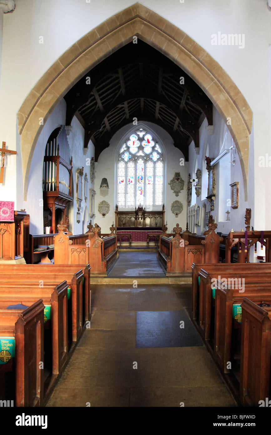 Interior Of A Typical English Country Church In Wiltshire England UK