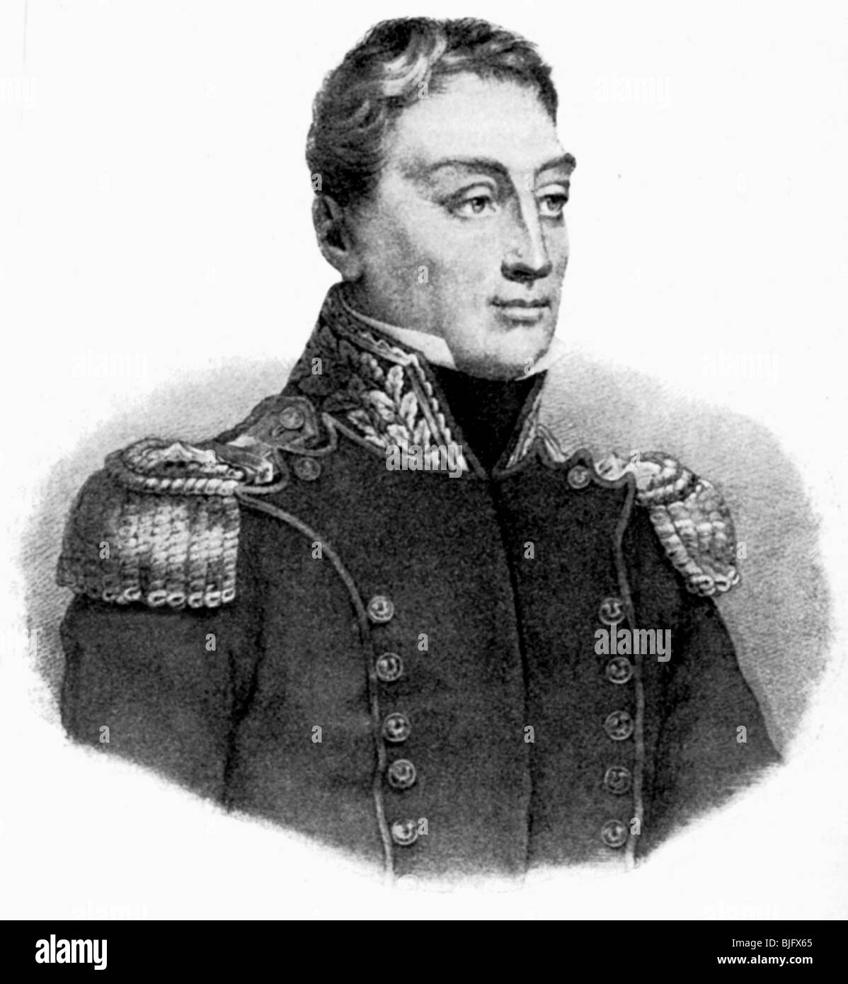 Lafayette, Marie Joseph Mortier, Marquis de, 6.9.1757 , Additional-Rights-Clearances-NA - Stock Image