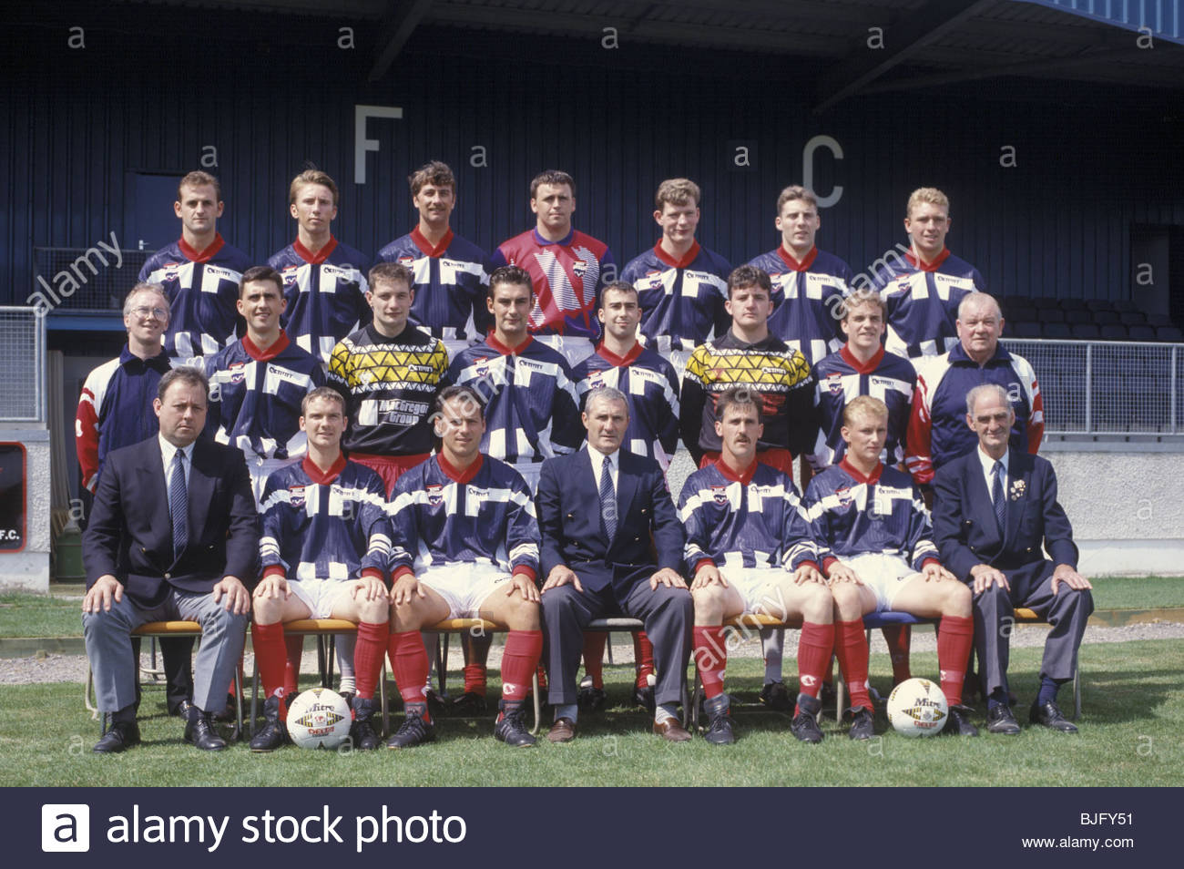 SEASON 1994/1995 ROSS COUNTY Ross County team picture - Stock Image