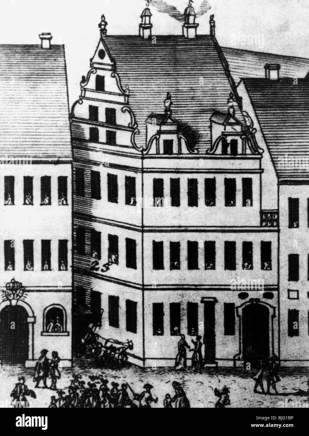 geography / travel, Germany, Wittenberg, house at the market, residence of Lucas Cranach the Elder, exterior view, - Stock Image