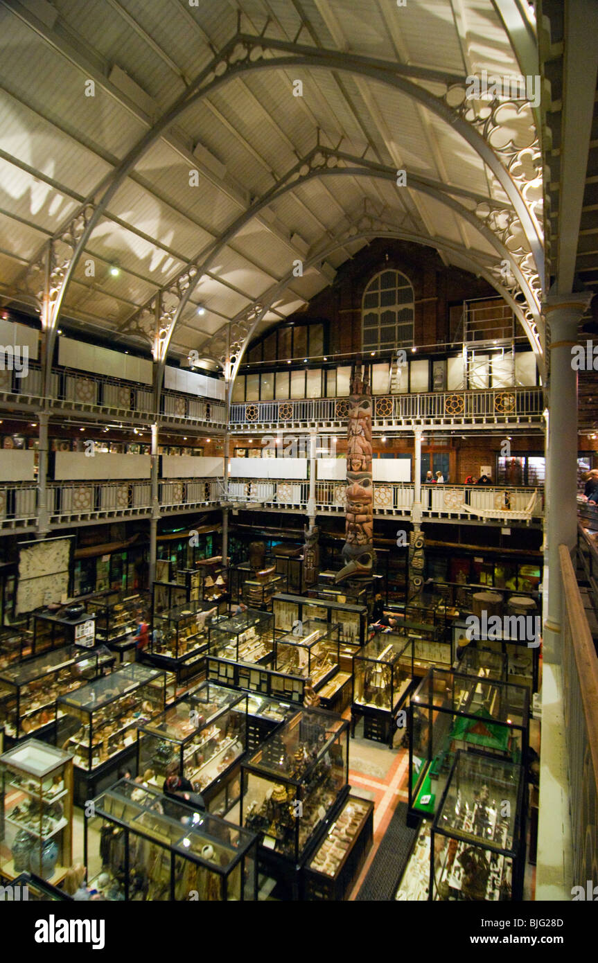 The interior of the Pitt Rivers Museum Oxford UK - Stock Image