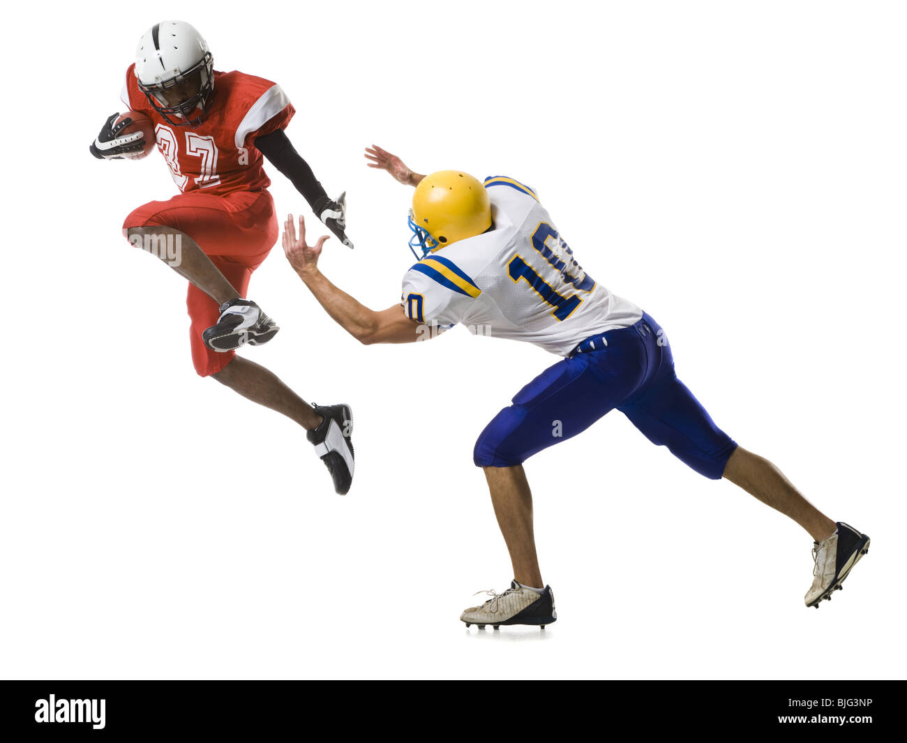 two football players - Stock Image