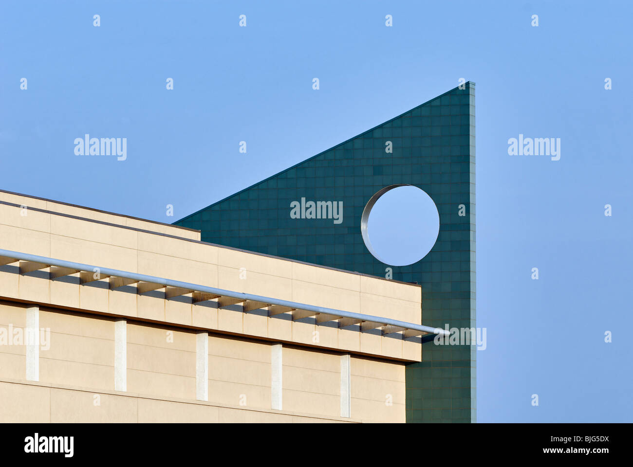 Architectural Detail on the South wing of the Kentucky Fair and Exposition Center in Louisville, Kentucky - Stock Image