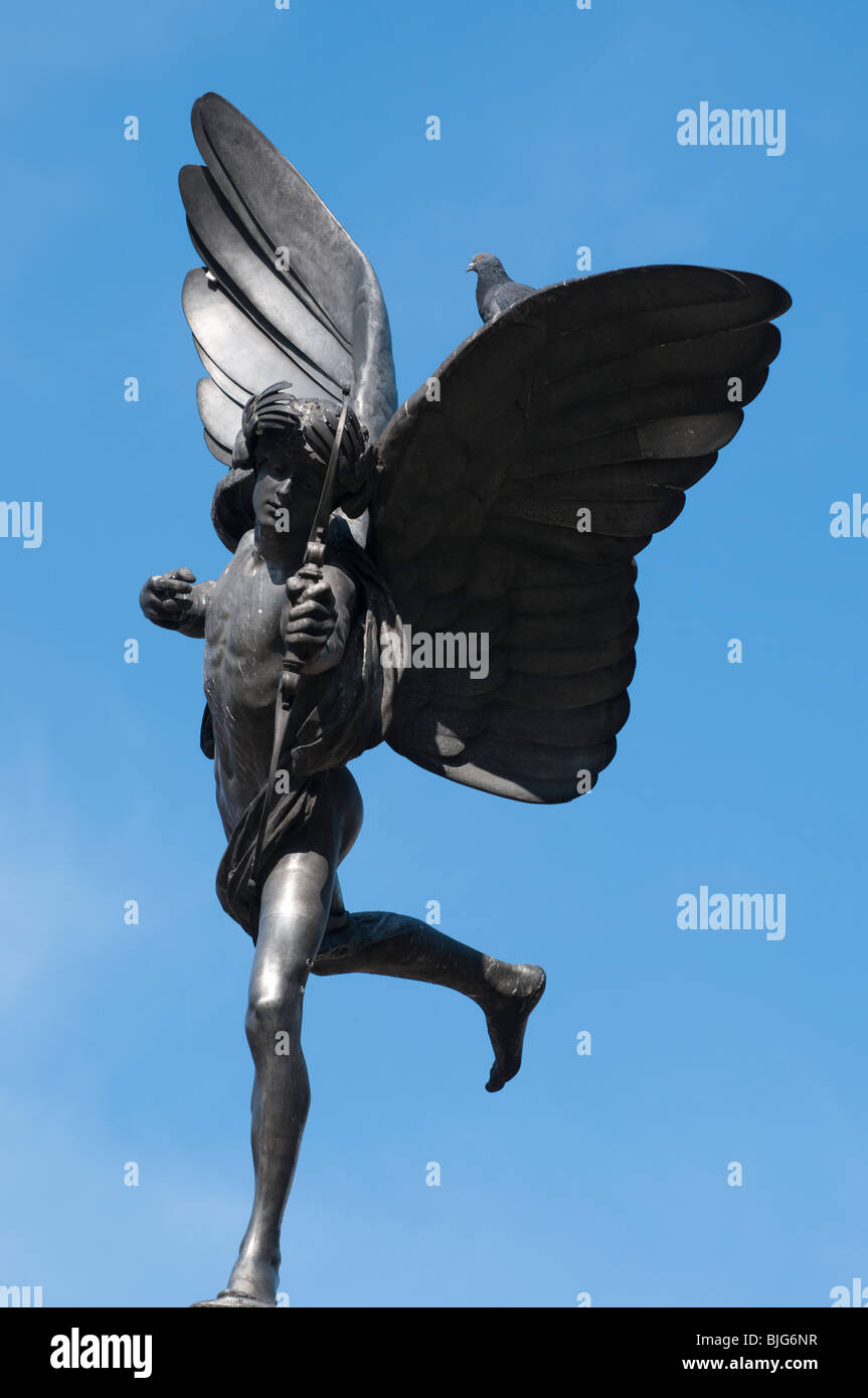 Eros at Piccadilly Circus - Stock Image