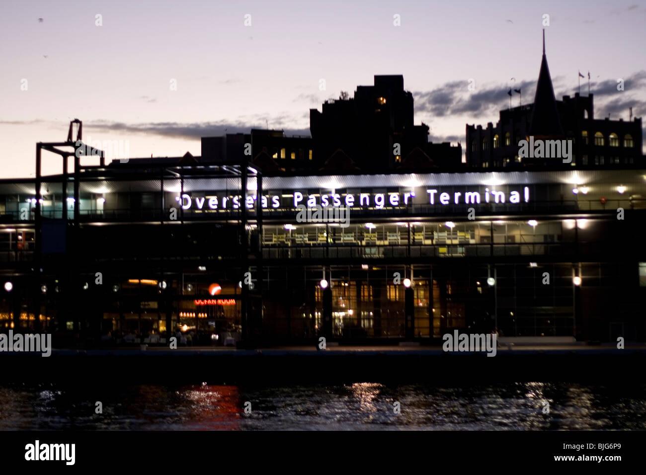 The overseas passenger terminal Circular pier, Sydney, Australia. - Stock Image