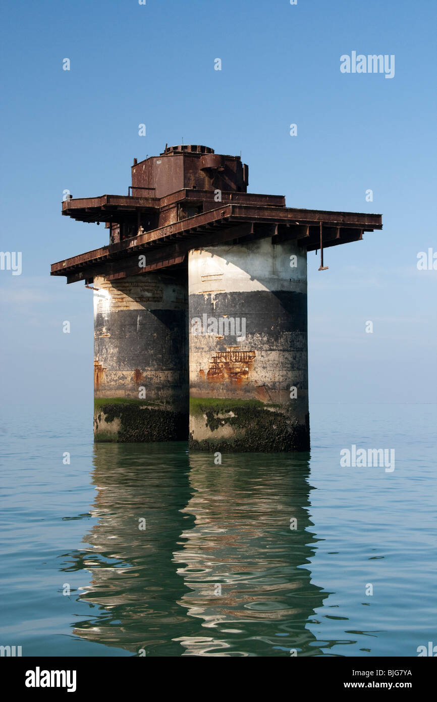 Maunsell Navel Sea Fort No. 4 - Fort Knock John - Stock Image