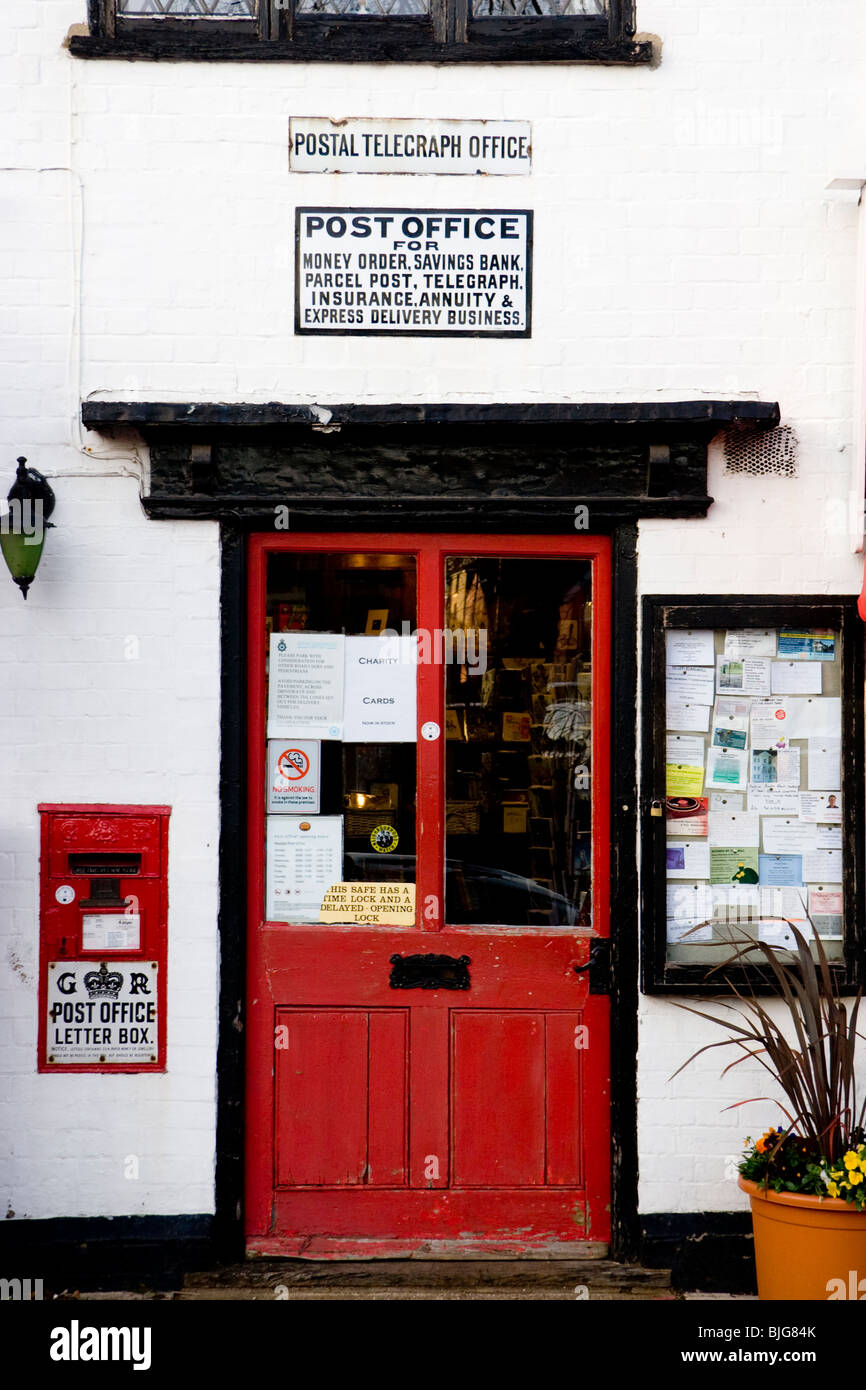 Post office and village stores, Woolpit, Suffolk, England - Stock Image