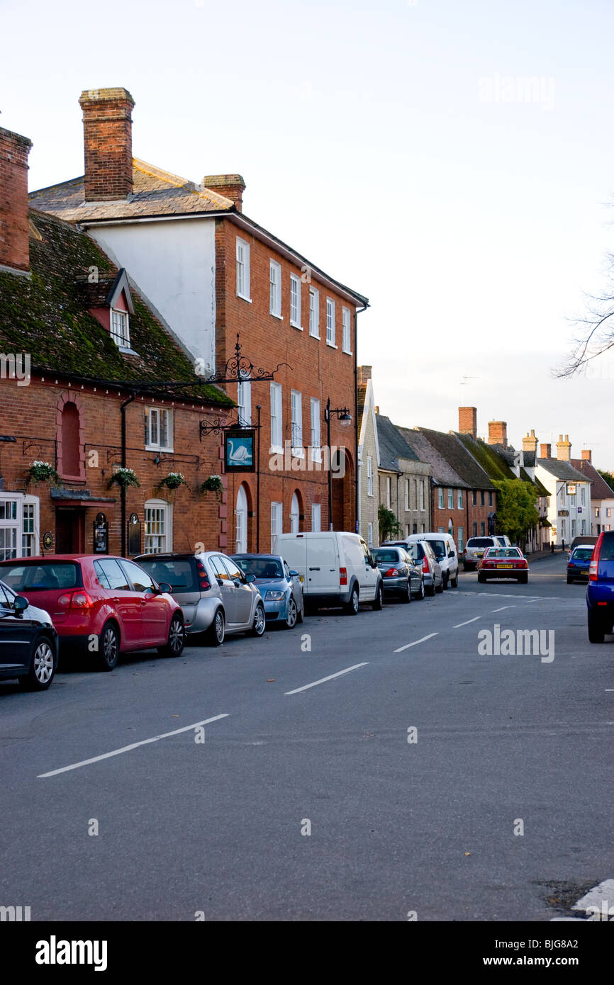 Village square, Woolpit, Suffolk, England - Stock Image