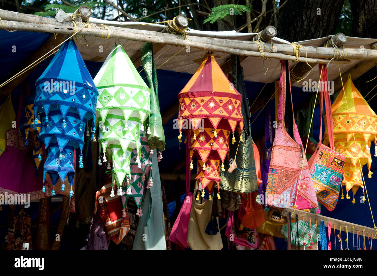 Ethnic colourful lamp shades for sale in a shop at fort kochi stock ethnic colourful lamp shades for sale in a shop at fort kochi kerala india mozeypictures Images