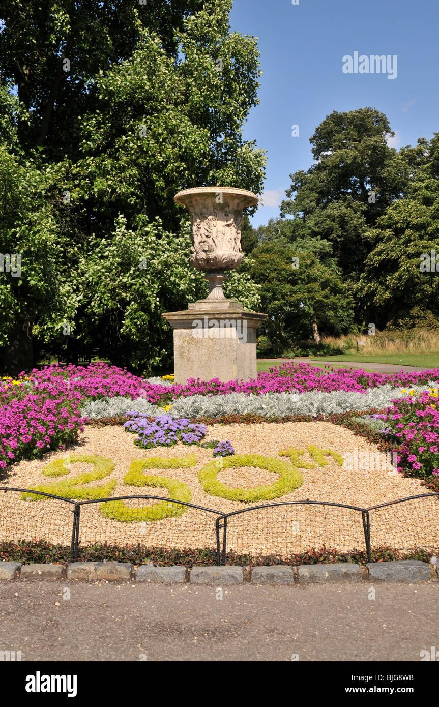 Decoration celebrating 250th anniversary of Kew Gardens, London, UK - Stock Image