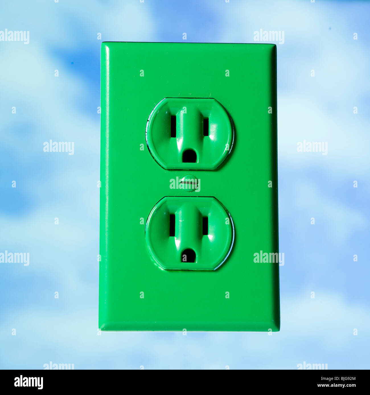 green power outlet - Stock Image