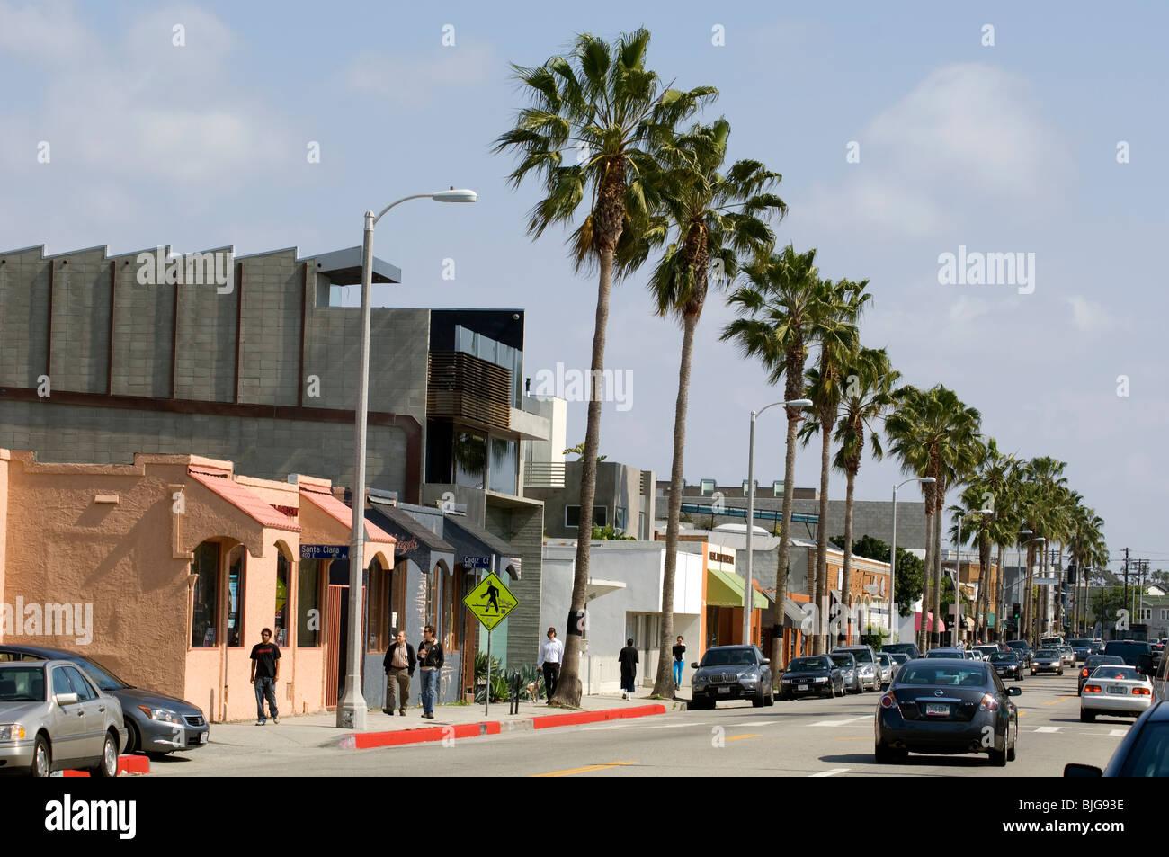Abbot Kinney Blvd In Venice California