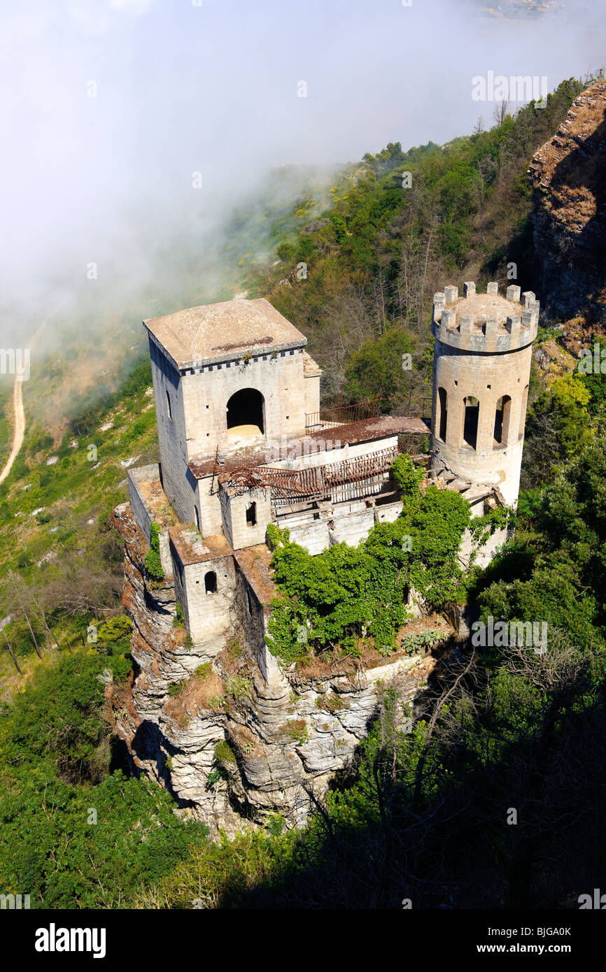 Castello di Vénere [ Venere ] Érice, Erice, Sicily stock photos. - Stock Image