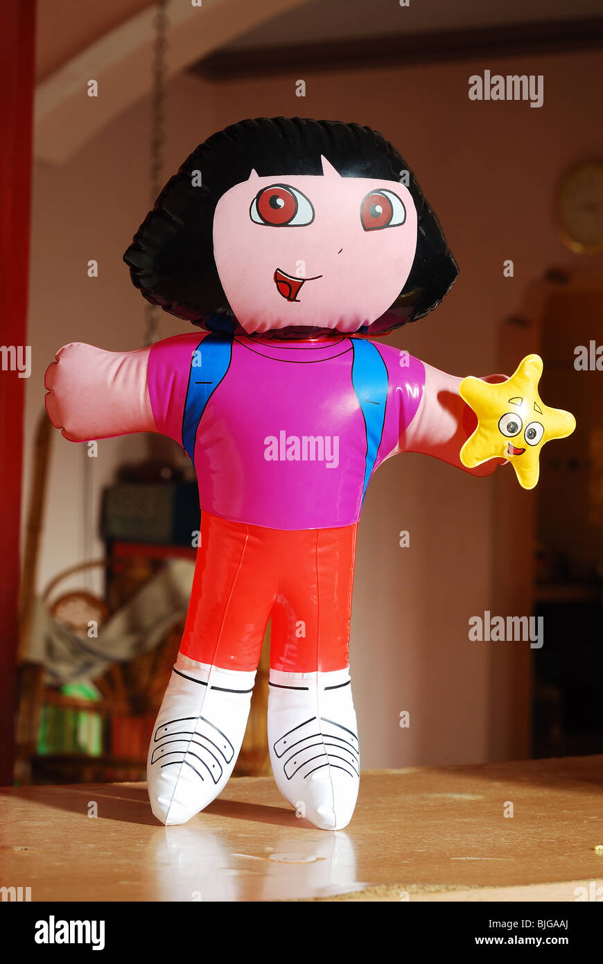 Dora doll with beautiful blurred background - Stock Image