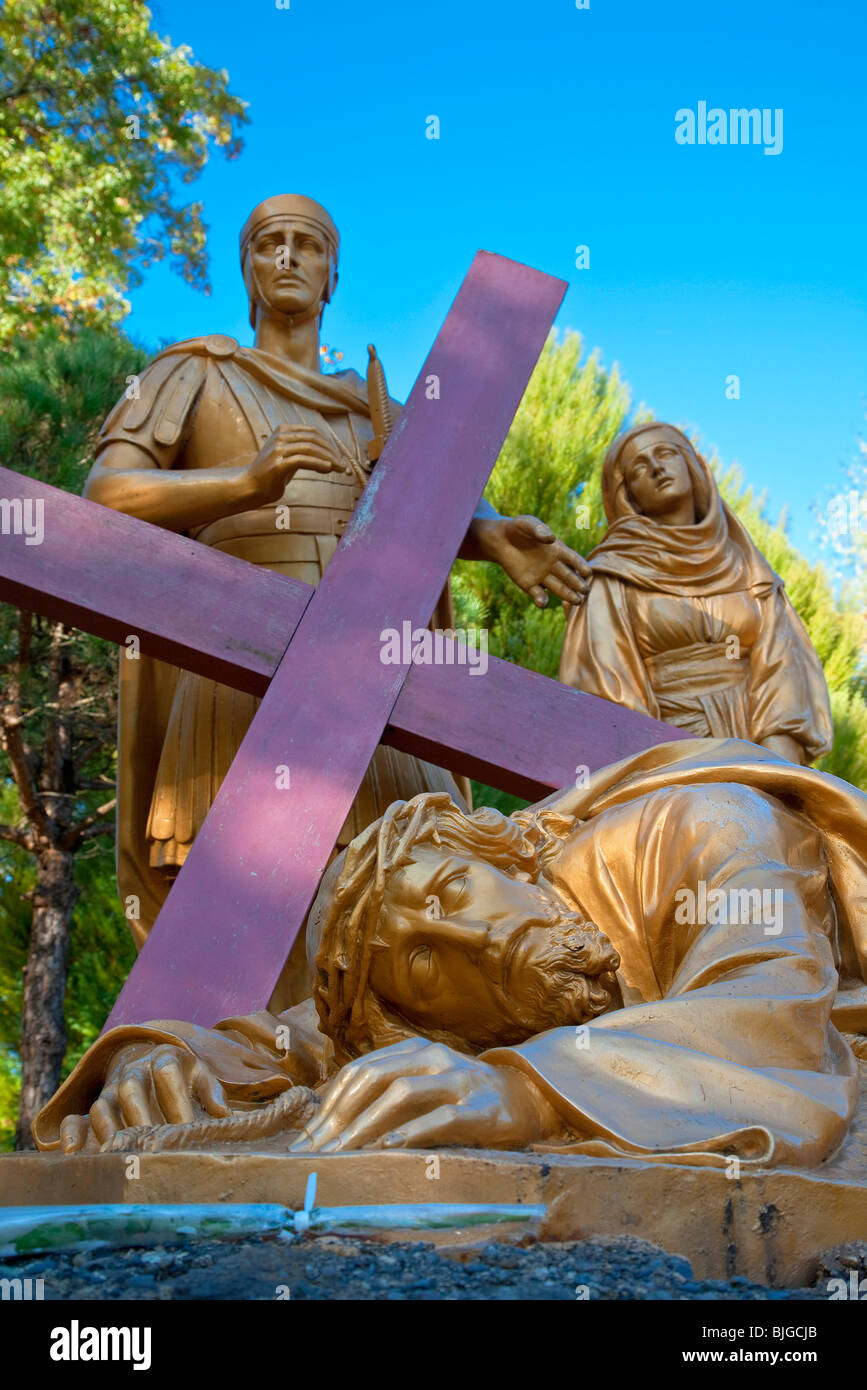 Way of the Cross, Lourdes - Stock Image