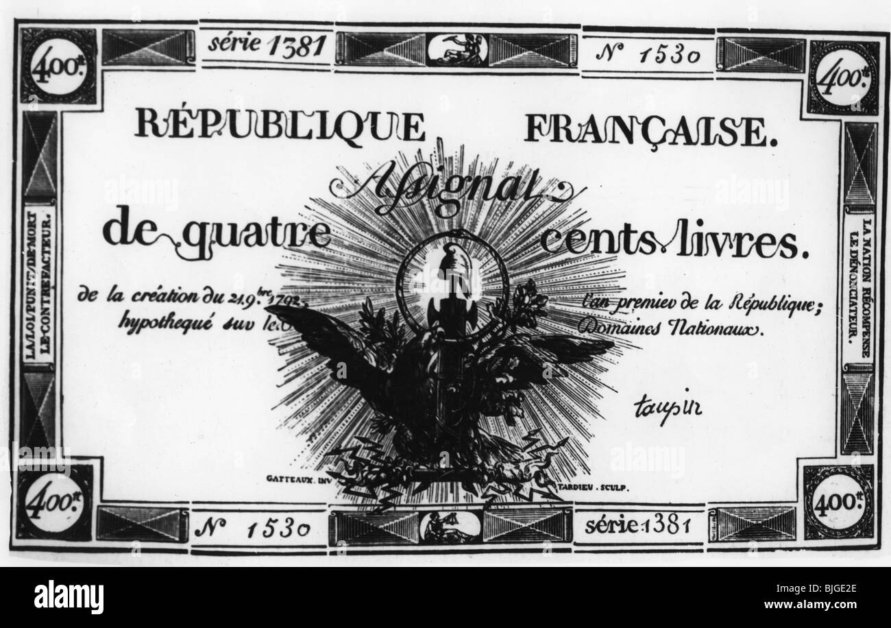 FRENCH REVOLUTION MONEY 1792