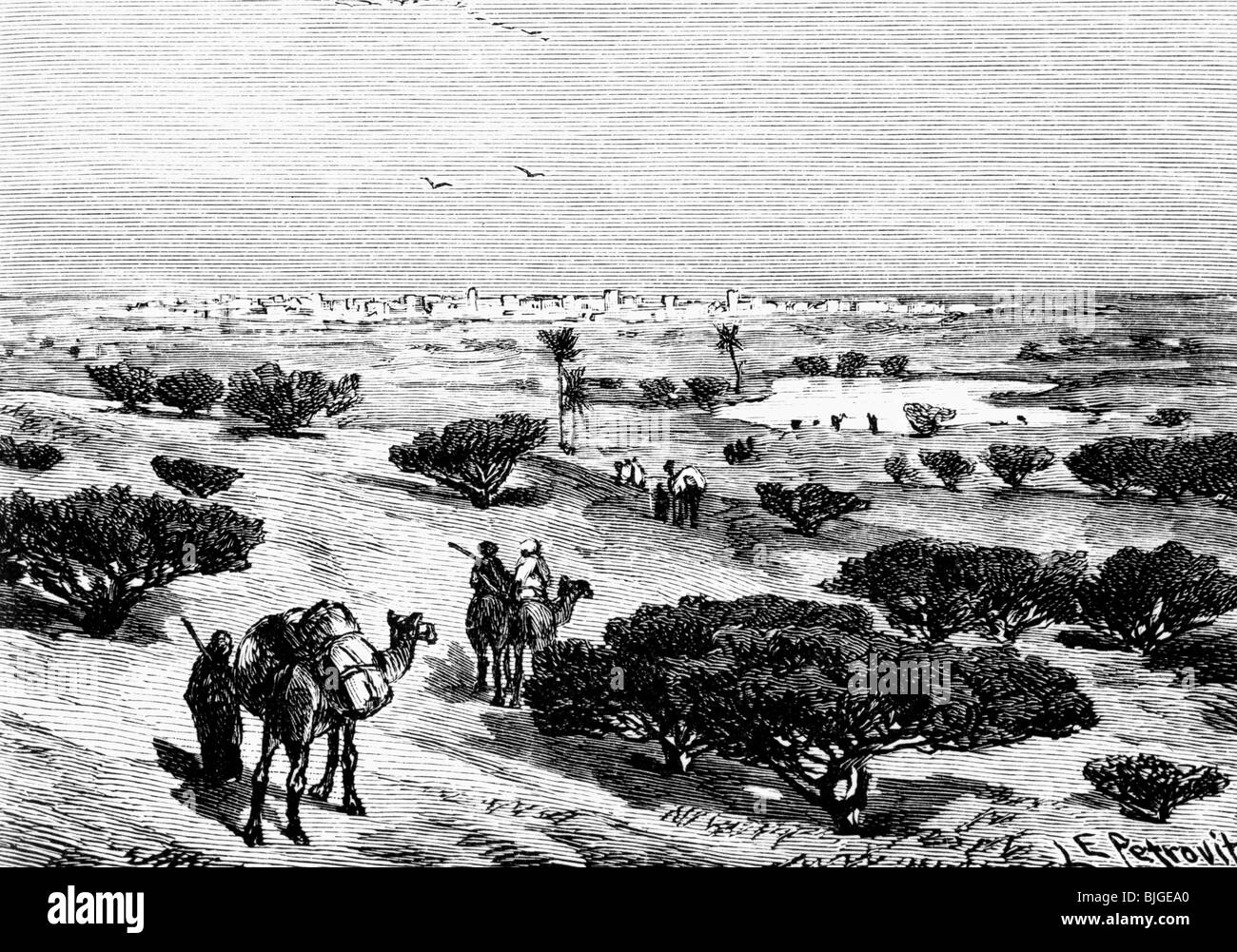 geography / travel, Mali, Timbuktu, view, circa 1860, Additional-Rights-Clearances-NA - Stock Image