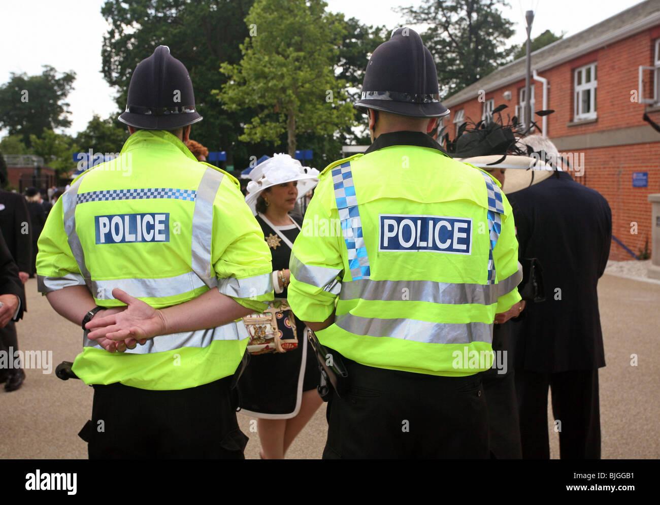 Policemen at the Royal Ascot horse races, Great Britain - Stock Image