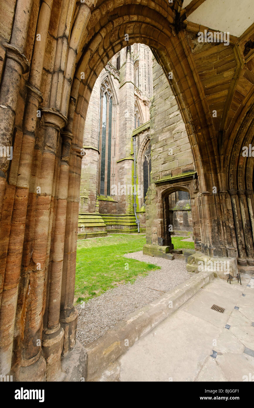Hereford Cathedral Archway - Stock Image