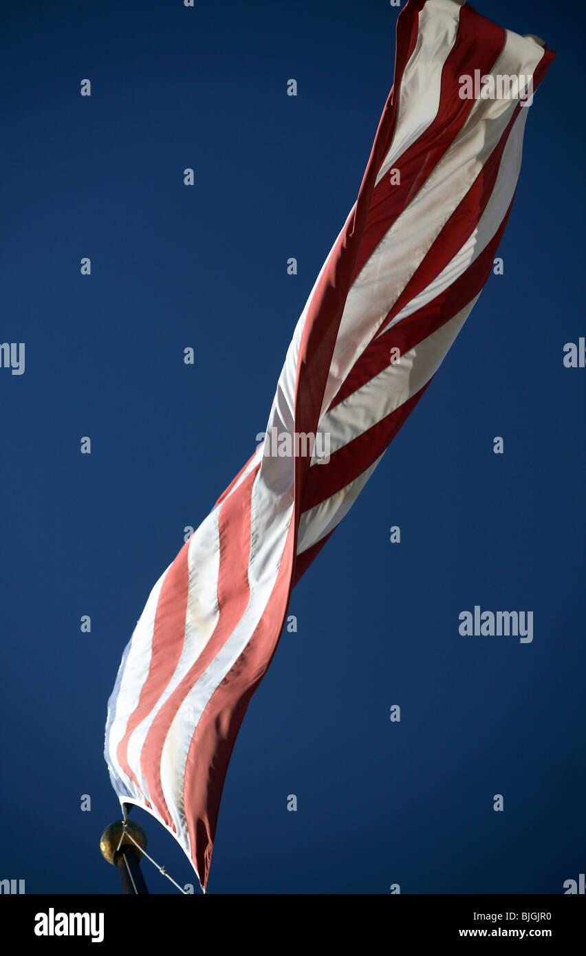 Fluttering USA national flag - Stock Image