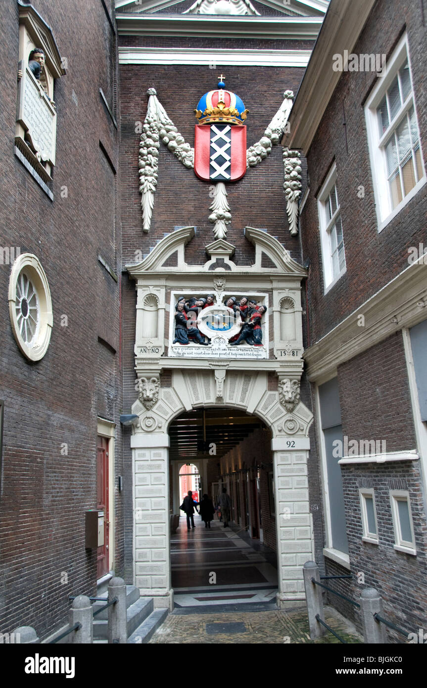 The Amsterdams Historisch Historic Museum is about the history of Amsterdam - Stock Image