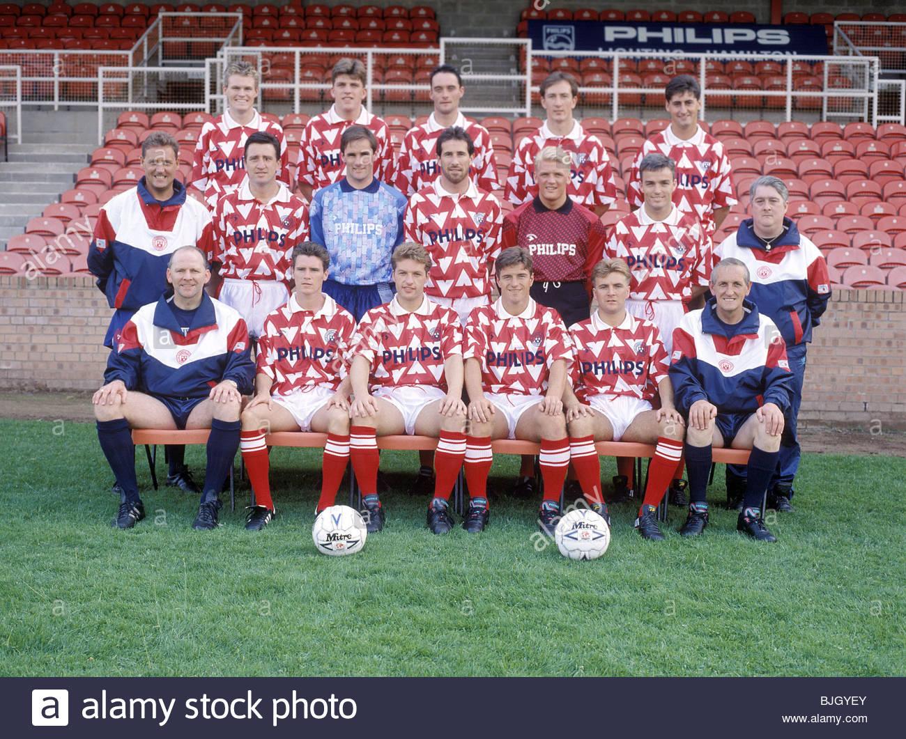 SEASON 1991/1992 HAMILTON FC Hamilton squad picture - Stock Image