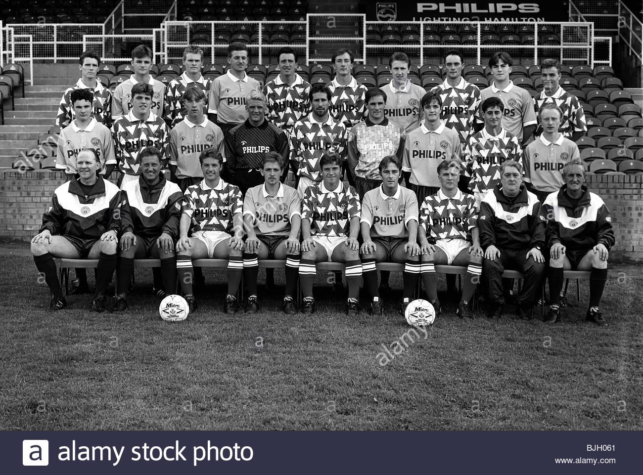 SEASON 1991/1992 HAMILTON Hamilton squad picture - Stock Image