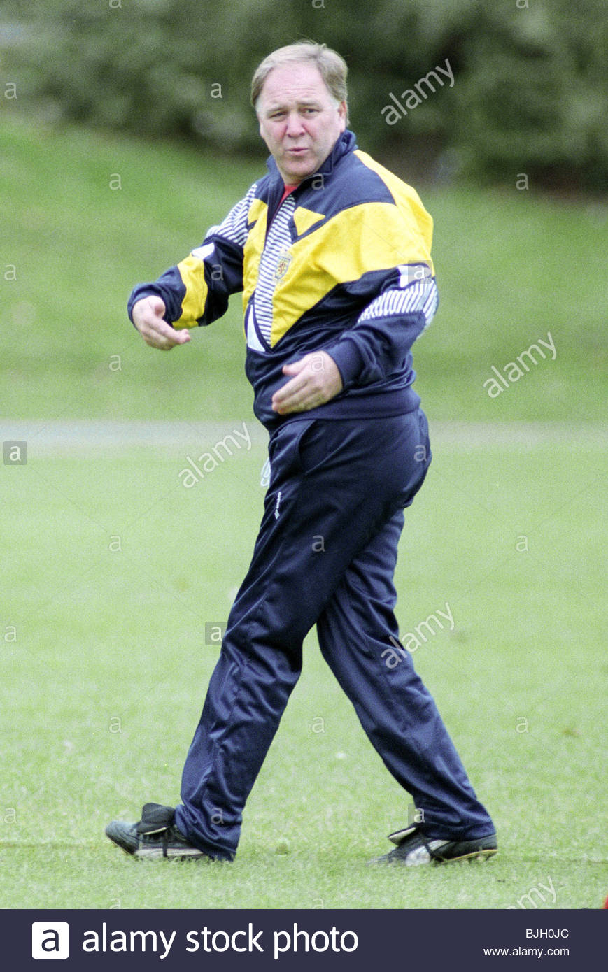 1991/1992 Scotland manager Craig Brown during training - Stock Image