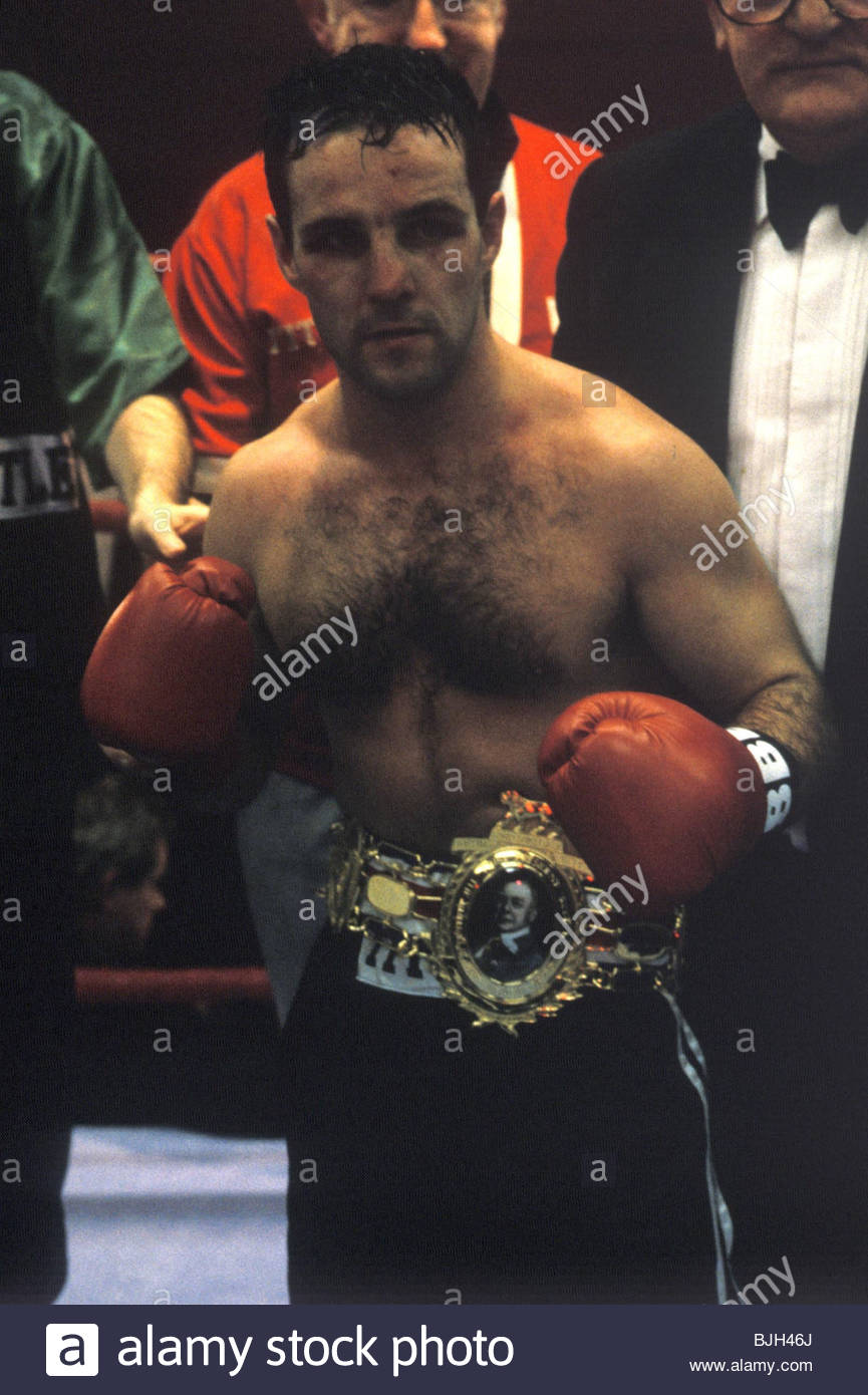 27/01/92 BRITISH BANTAMWEIGHT CHAMPIONSHIP RONNIE CARROLL v JOE KELLY ST ANDREW'S SPORTING CLUB - GLASGOW Joe - Stock Image