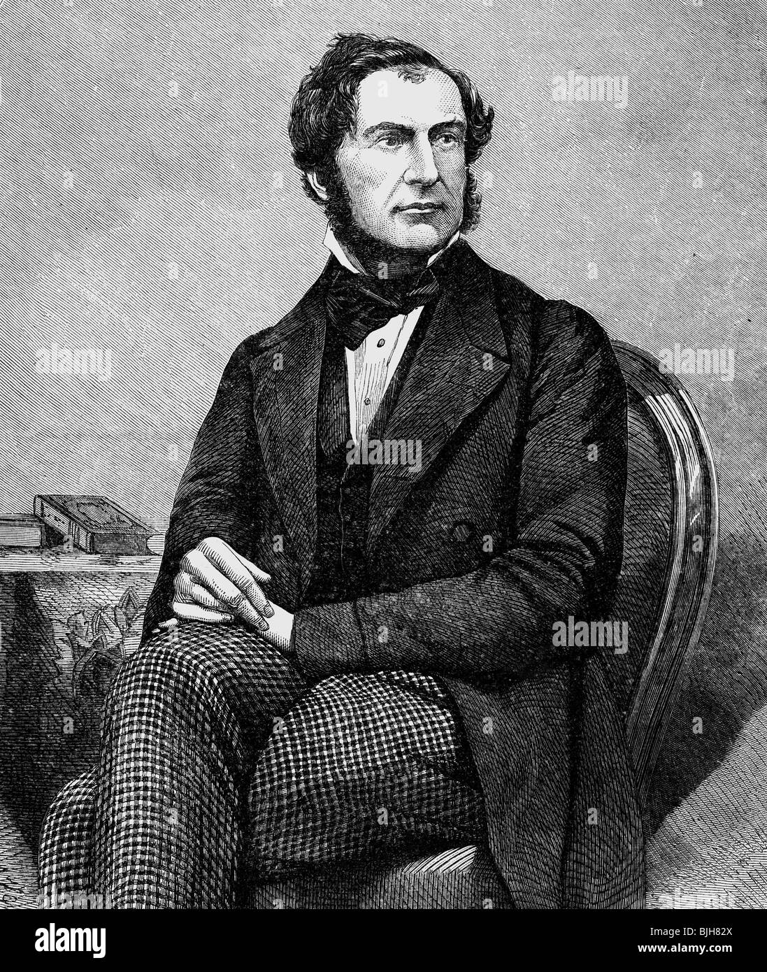 Gladstone, William Eward, 29.12.1809 - 19.5.1898, British politician (Lib.), Chancellor of the Exchequer 18.6.1859 - Stock Image