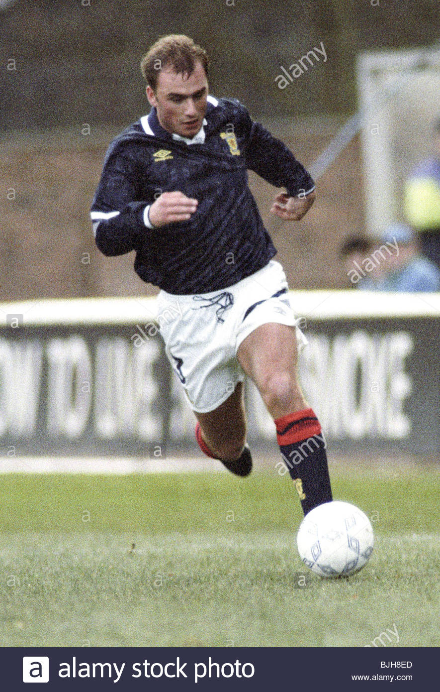 18/11/92 EUROPEAN UNDER 21 CHAMPIONSHIP SCOTLAND U21 V ITALY U21 (1-2) FIR PARK - MOTHERWELL Scotland's Gary - Stock Image