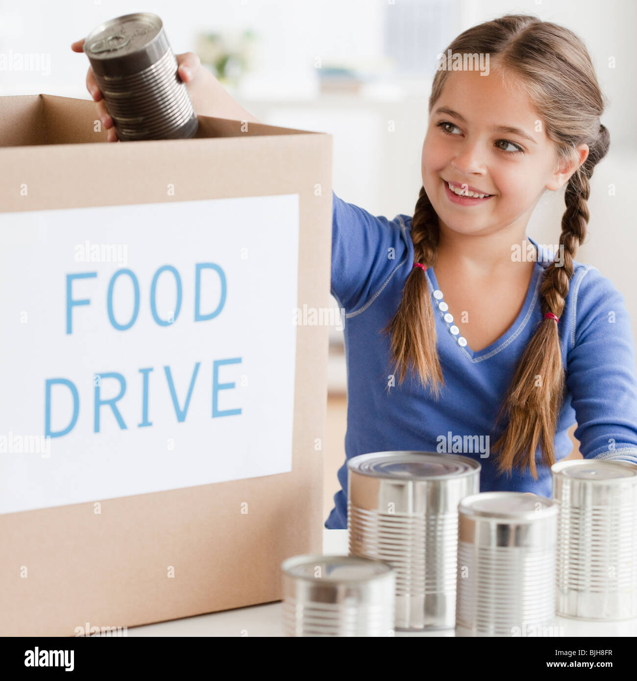 Food drive - Stock Image