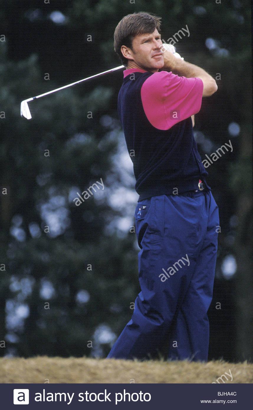 12/07/92 BELL'S SCOTTISH OPEN CHAMPIONSHIP GLENEAGLES - PERTHSHIRE Golfer Nick Faldo in action - Stock Image