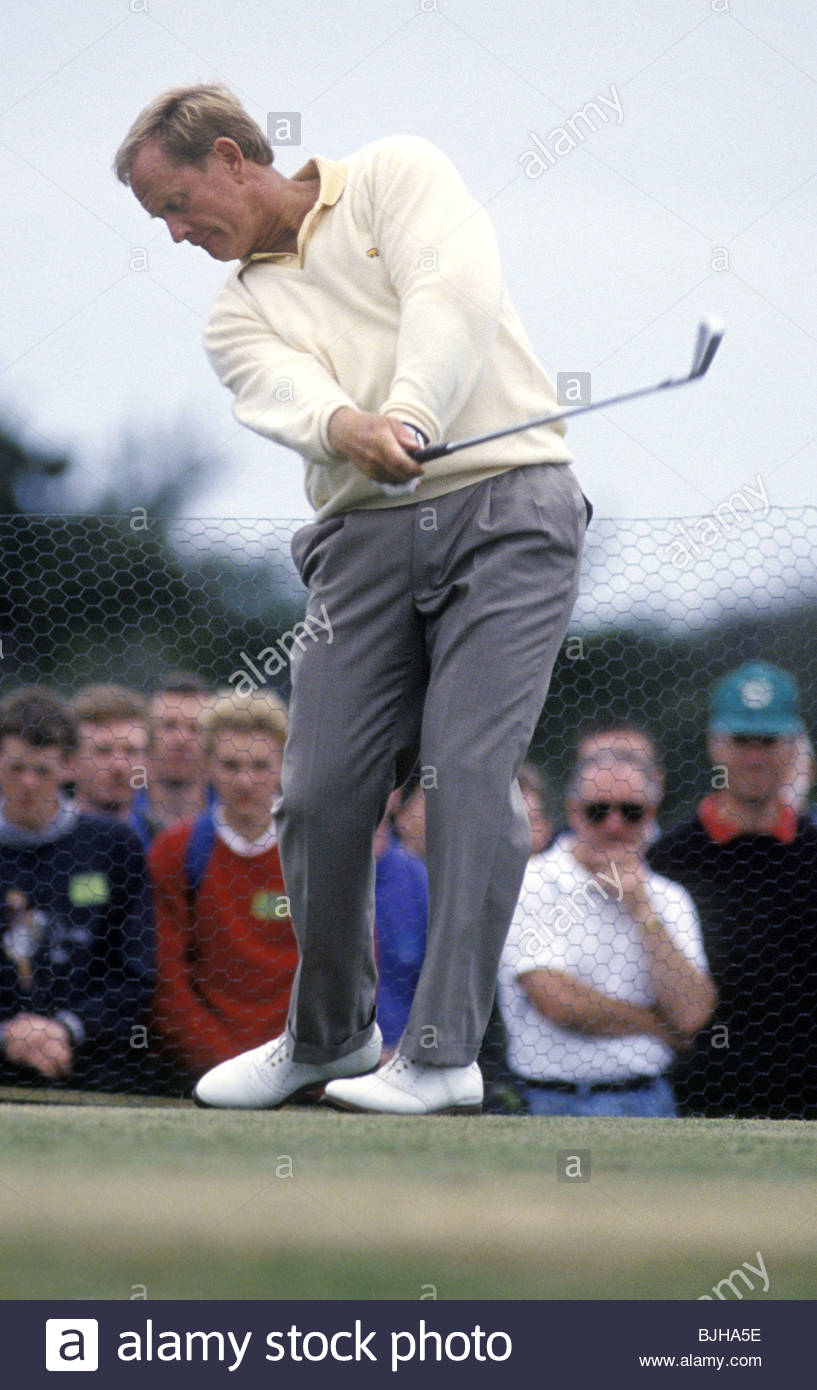 1992/1993 Golfer Jack Nicklaus in action - Stock Image
