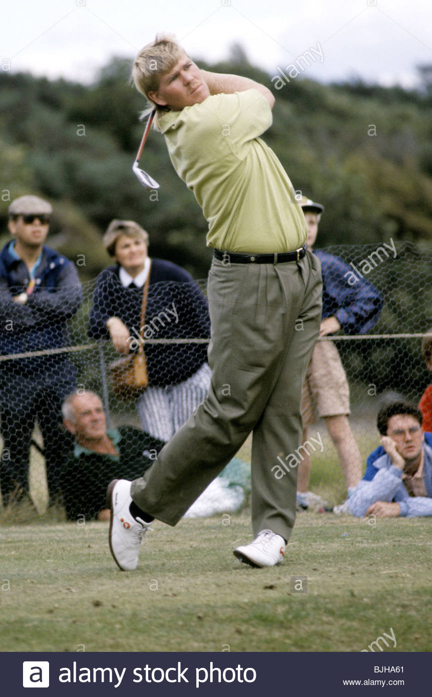 1992/1993 Golfer John Daly in action - Stock Image
