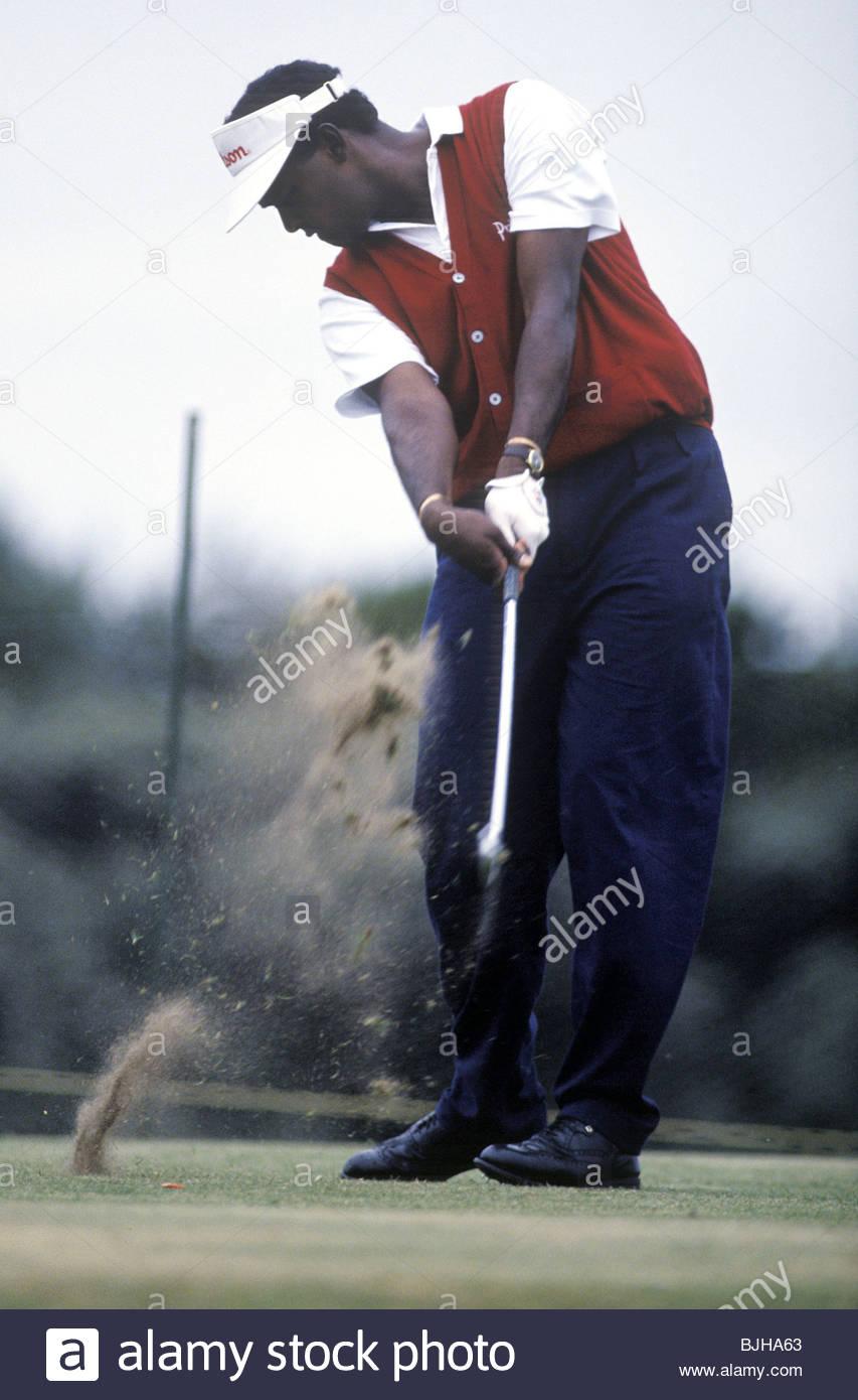 1992/1993 Golfer Vijay Singh in action - Stock Image