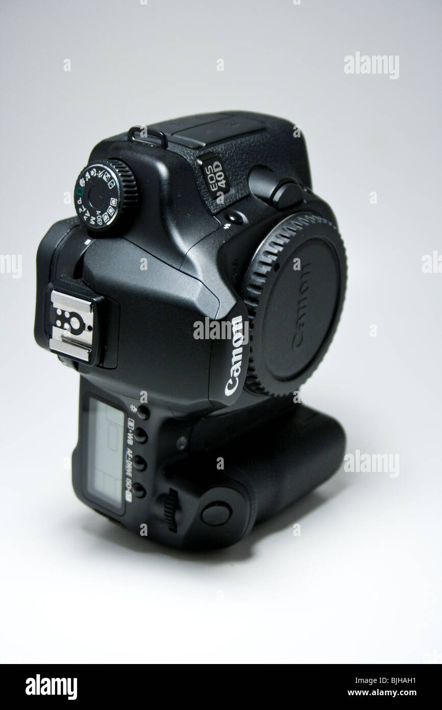 canon digital camera dslr slr advance 40d eos Japanese black product isolated top view - Stock Image