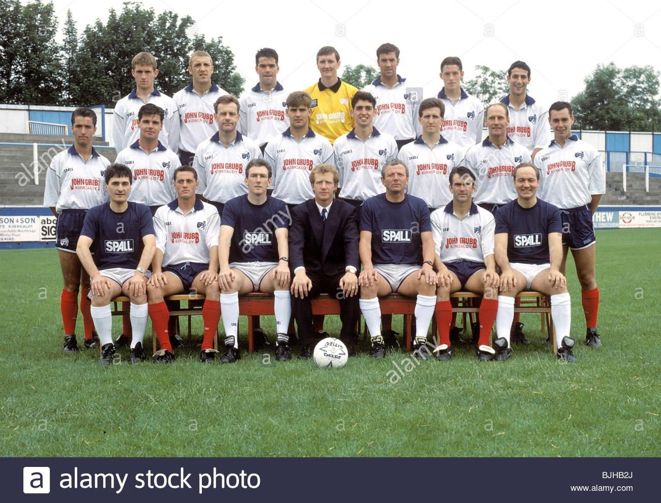SEASON 1992/1993 RAITH ROVERS Raith Rovers team picture - Stock Image