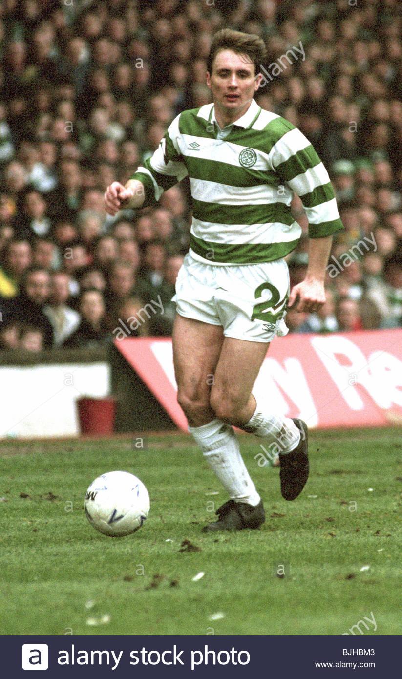 20/03/93 PREMIER DIVISION CELTIC V RANGERS (2-1) CELTIC PARK - GLASGOW Celtic's Tom Boyd in action - Stock Image