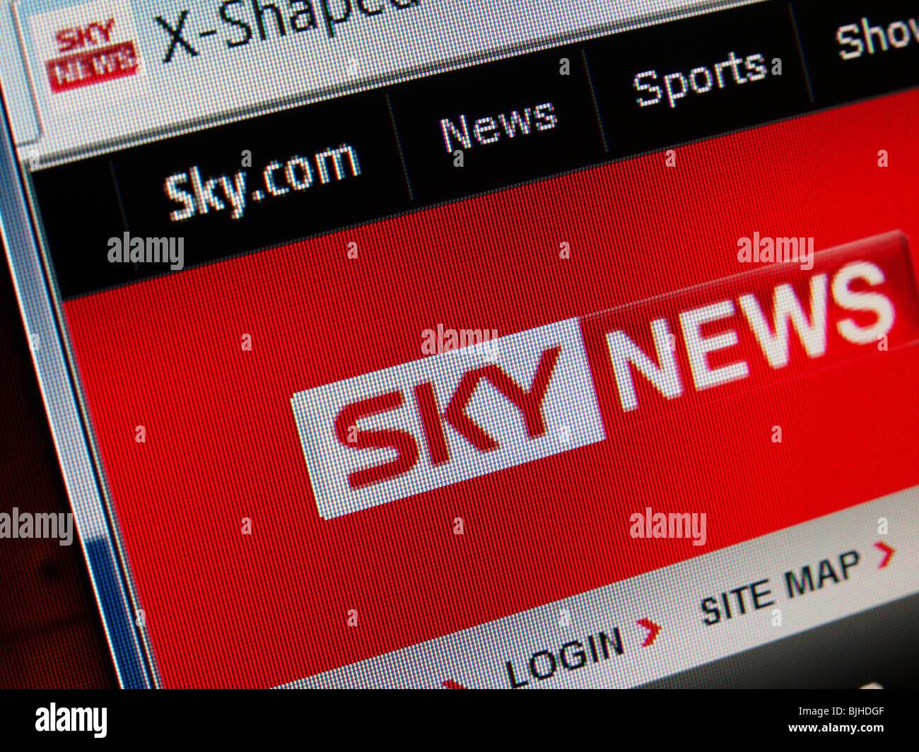 Sky News web page screen shot. - Stock Image